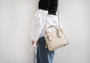 B1710Mono white handbag